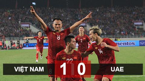 Việt Nam 1-0 UAE: Thắng thuyết phục, Việt Nam đứng đầu bảng G