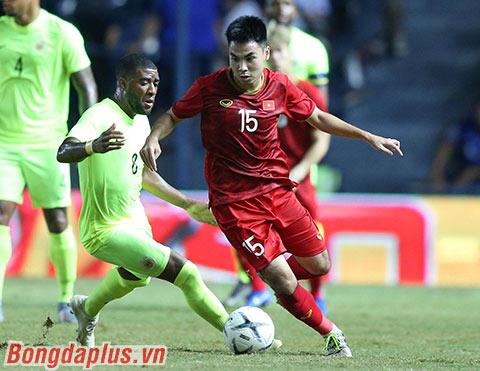 Đức Huy có thể sẽ xuất phát ngay từ đầu trận đấu với UAE - Ảnh: Quốc An