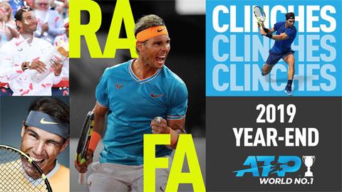 Nadal kết thúc năm 2019 ở ngôi số 1 thế giới
