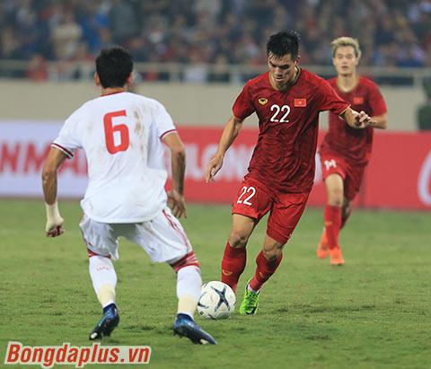 Tiến Linh tả về tình huống ghi bàn vào lưới UAE - Ảnh: Đức Cường