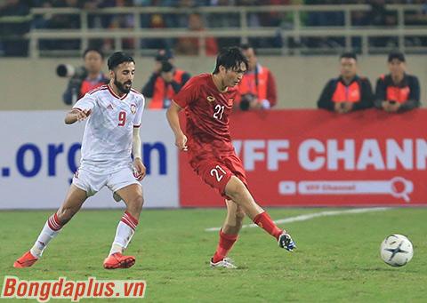 Theo InStat, Tuấn Anh tắc bóng thành công 6/6 lần ở trận gặp UAE - Ảnh: Phan Tùng