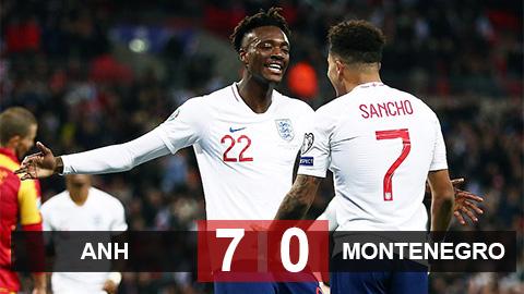 Anh 7-0 Montenegro: Tam sư đoạt vé tới VCK