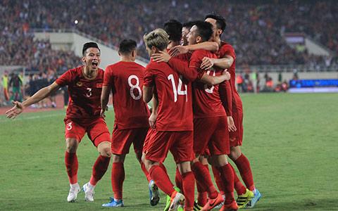ĐT Việt Nam đã có chiến thắng thuyết phục trước UAE - Ảnh: Phan Tùng