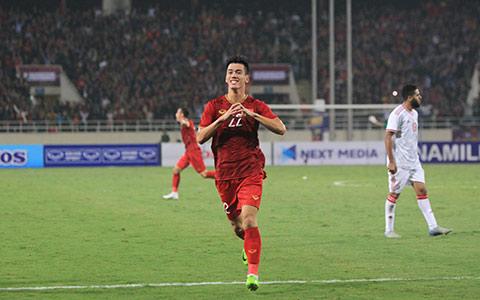 Tiến Linh cũng được HLV Park Hang Seo khen ngợi sau bàn thắng duy nhất vào lưới UAE - Ảnh: Phan Tùng