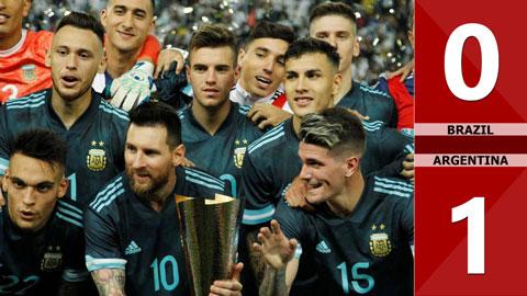 Brazil 0-1 Argentina(Giao hữu 2019)