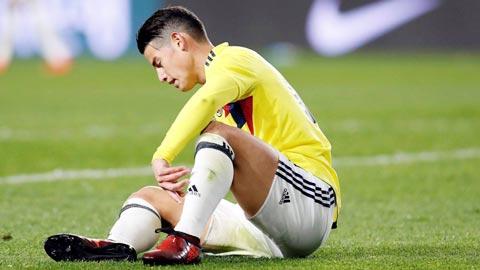 ***Tin Worldcup888: James Rodriguez lại đánh bạn với bệnh viện