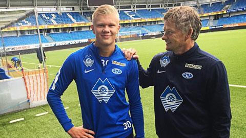 Từng là học trò của Ole Solskjaer tại Molde, Erling Haaland nay đã vươn tầm thành một trong những ngôi sao trẻ hay nhất châu Âu