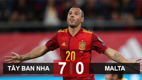 Tây Ban Nha 7-0 Malta: Cazorla ghi bàn trở lại sau 4 năm, Bò tót vượt qua vòng loại