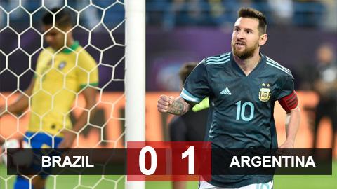 Brazil 0-1 Argentina: Jesus đá hỏng phạt đền, Messi ghi bàn duy nhất trên chấm 11m