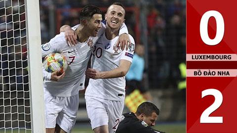 Luxembourg 0-2 Bồ Đào Nha(Vòng loại Euro 2020)