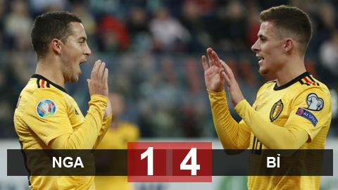 Nga 1-4 Bỉ: Anh em nhà Hazard thay nhau tỏa sáng