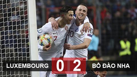 Luxembourg 0-2 Bồ Đào Nha: Nhà vua giành vé