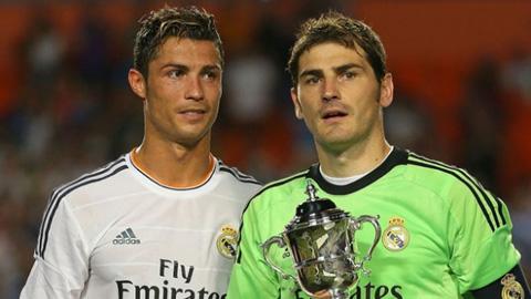 Casillas và Ronaldo trong màu áo Real