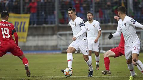 Ronaldo thi đấu rất nỗ lực ở trận đấu này
