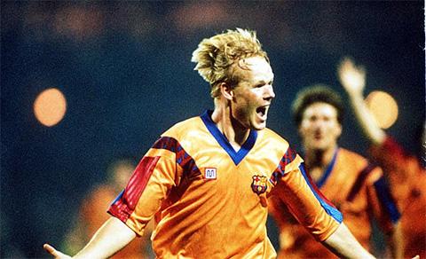 HLV Koeman từng có thời gian thi đấu cho Barca