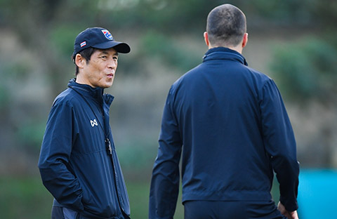 HLV Nishino đặt mục tiêu phải thắng Việt Nam - Ảnh: Changseuk