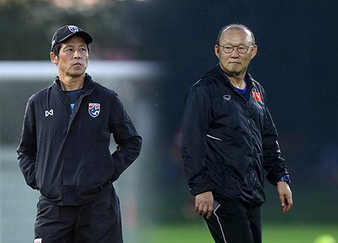 HLV Park Hang Seo và Akira Nishino đại diện cho 2 nền bóng đá hàng đầu châu Á