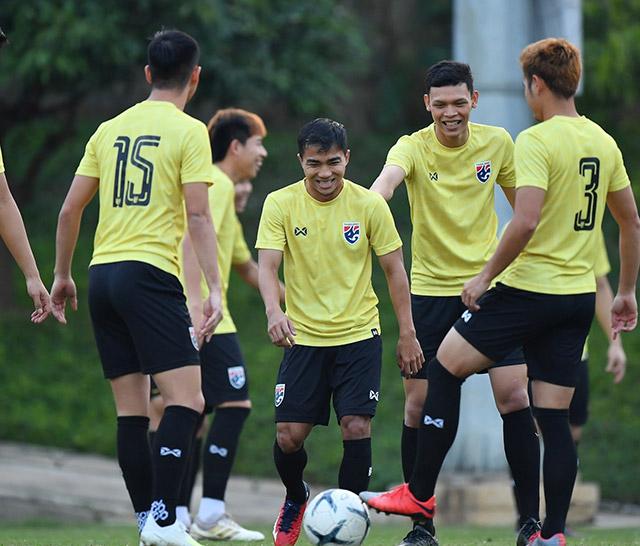 Tâm lý các cầu thủ Thái Lan tỏ ra thoải mái trước trận đánh lớn với Việt Nam.