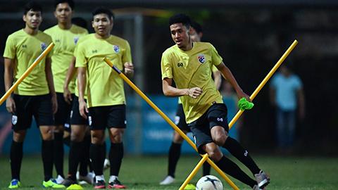 ĐT Thái Lan chuẩn bị cho trận đấu với Việt Nam vào tối 19/11 trên sân Mỹ Đình