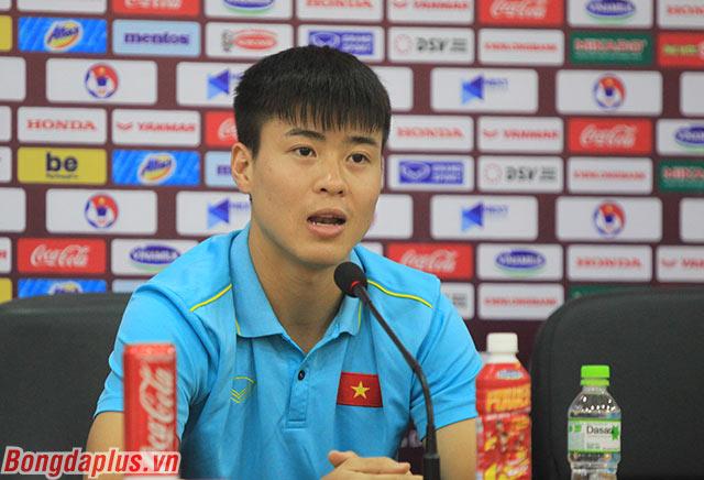 Duy Mạnh quyết tâm thi đấu vì 90 triệu người hâm mộ Việt Nam - Ảnh: Phan Tùng