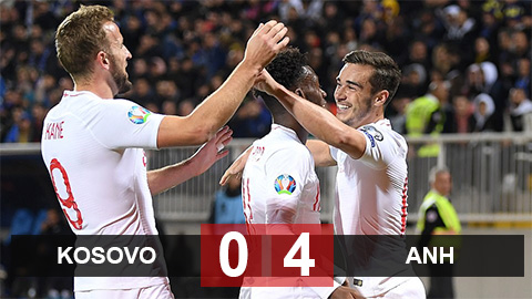 Kosovo 0-4 Anh(Vòng loại Euro 2020)
