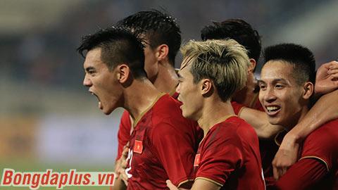 Việt Nam đang tạm dẫn đầu tại bảng G vòng loại World Cup 2022 khu vực châu Á
