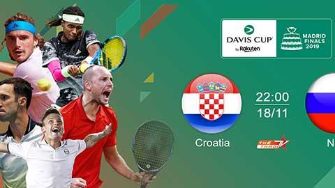 Lịch trực tiếp chung kết Davis Cup 2019 trên VTVcab