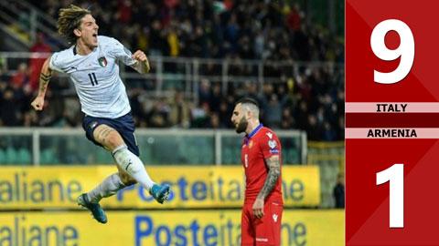 Italia 9-1 Armenia(Vòng loại Euro 2020)