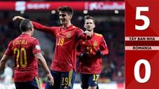 Tây Ban Nha 5-0 Romania(Vòng loại Euro 2020)