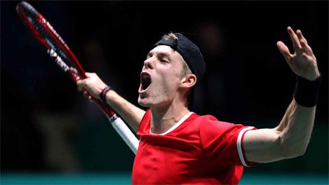 Davis Cup 2019: Shapovalov mang về lợi thế cho Canada