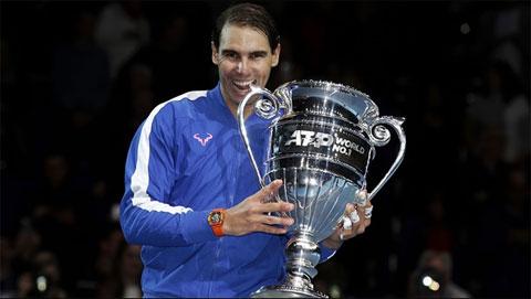 Rafael Nadal có 5 lần kết thúc mùa giải ở ngôi số 1 thế giới