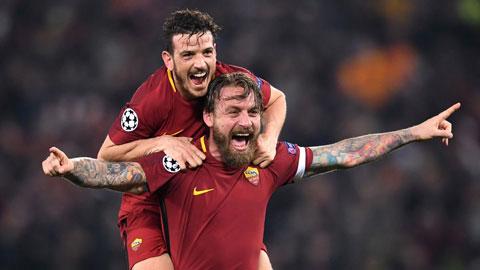 Pellegrini và Florenzi trong màu áo AS Roma