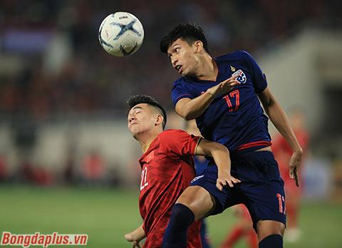 Việt Nam bất phân thắng bại trước Thái Lan sau cả 2 lượt trân - Ảnh: Phan Tùng