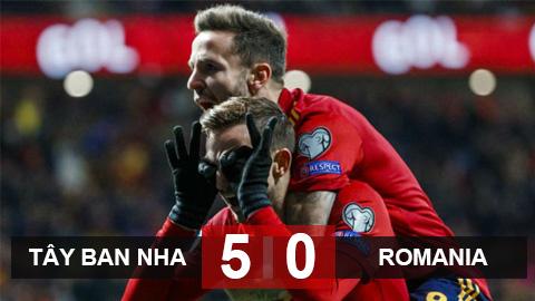 Tây Ban Nha 5-0 Romania: Bản giao hưởng chia tay