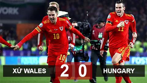 Xứ Wales 2-0 Hungary: Người hùng Ramsey