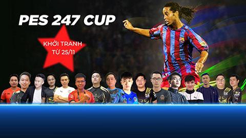 16 game thủ tranh tài tại giải thể thao điện tử PES 247 Cup