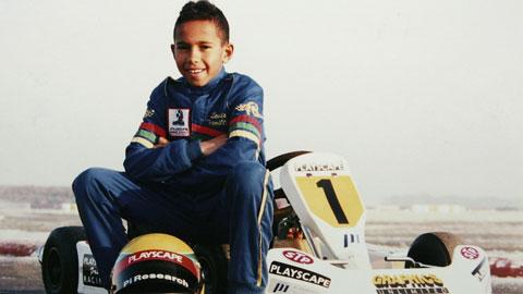 Hamilton hồi còn đua xe kart
