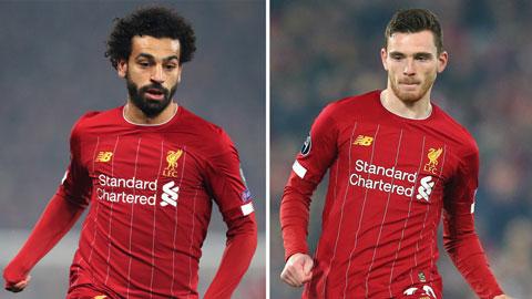 Liverpool đón tin không vui từ Salah và Robertson