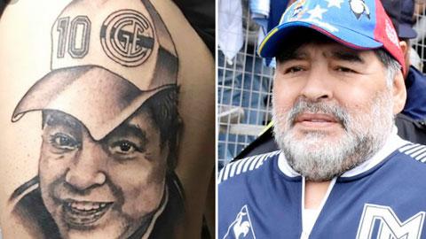 Fan việt vị vì hình xăm Maradona
