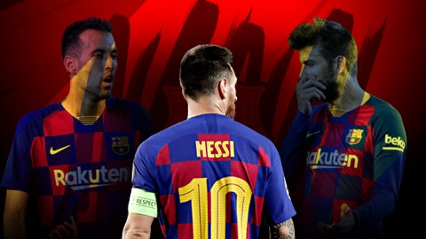 Barca: Hoàng hôn đế chế sau lưng Messi-Busquets-Pique