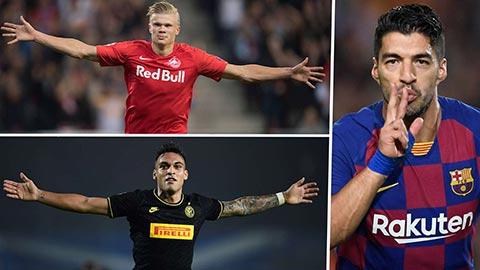 Barca tranh Haaland với M.U để thay thế Suarez