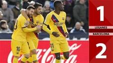 Leganes 1-2 Barcelona(Vòng 13 La LIga 2019/20)