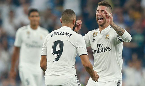 Ngoài Benzema và Ramos, còn có 11 cầu thủ nữa đã ghi bàn cho Real ở mùa này