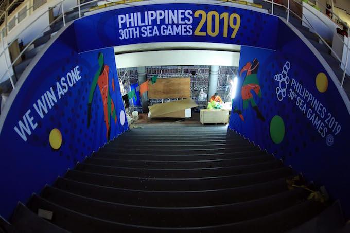 Tại sân vận động Rizal Memorial mới nhìn thấy chút không khí SEA Games. Ảnh: Đức Cường