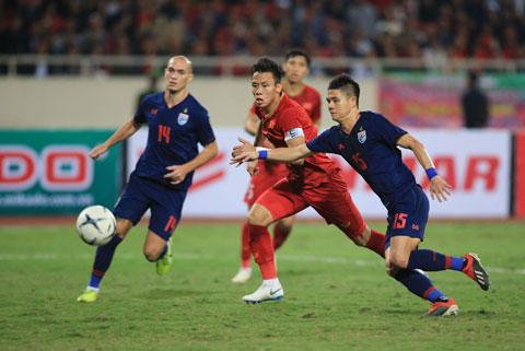 Ngọc Hải đã thi đấu ấn tượng trong cả 2 lượt trận với Thái Lan