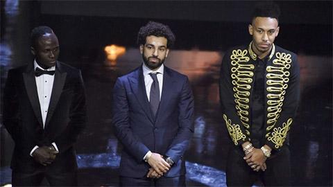 Salah tranh giải Cầu thủ châu Phi hay nhất năm với Mane và Aubameyang