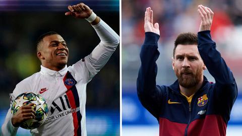 Mbappe ủng hộ Messi giành Quả bóng vàng