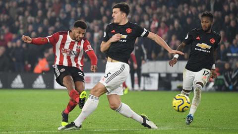 M.U để Sheffield dẫn tới 2 bàn sau 50 phút