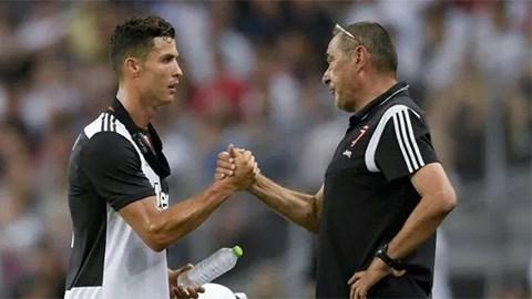 Sarri nhận thấy dấu hiệu tích cực dù chưa nói chuyện với Ronaldo