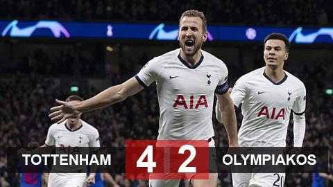 Tottenham 4-2 Olympiakos: Ngược dòng mãn nhãn
